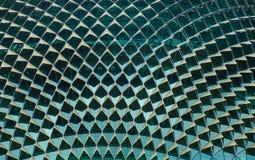 Κινηματογράφηση σε πρώτο πλάνο της κορυφής στεγών Esplanade του θεάτρου Στοκ Εικόνα