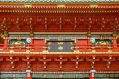 Κινηματογράφηση σε πρώτο πλάνο της λάρνακας Kanda Myojin στο Τόκιο, Ιαπωνία στοκ φωτογραφία με δικαίωμα ελεύθερης χρήσης