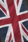 Κινηματογράφηση σε πρώτο πλάνο της σημαίας του Union Jack στοκ φωτογραφία