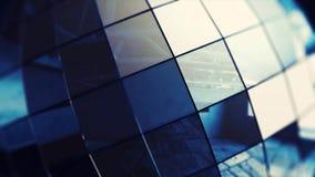 Κινηματογράφηση σε πρώτο πλάνο της όμορφης περιστροφής σφαιρών Disco άνευ ραφής με τις φλόγες Βρόχος-ικανή απομονωμένη σφαίρα καθ απόθεμα βίντεο