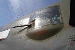 Κινηματογράφηση σε πρώτο πλάνο του Δεύτερου Παγκόσμιου Πολέμου β-25 βομβαρδιστικό αεροπλάνο Mitchell Στοκ Εικόνες