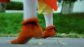 Κινηματογράφηση σε πρώτο πλάνο του ιρλανδικού εθνικού χορού χορού ποδιών Λαϊκός χορός υπαίθρια φιλμ μικρού μήκους