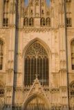 Κινηματογράφηση σε πρώτο πλάνο του καθεδρικού ναού των Βρυξελλών Στοκ Εικόνες