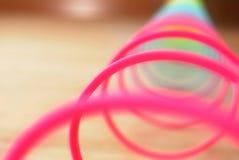Κινηματογράφηση σε πρώτο πλάνο του ρόδινου κρυψίνους παιχνιδιού χρώματος στοκ φωτογραφία με δικαίωμα ελεύθερης χρήσης