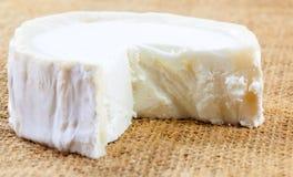 Κινηματογράφηση σε πρώτο πλάνο του φρέσκου γαλλικού τυριού αιγών ` s Στοκ Εικόνα