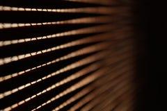 Κινηματογράφηση σε πρώτο πλάνο των ξύλινων κουρτινών Στοκ εικόνα με δικαίωμα ελεύθερης χρήσης