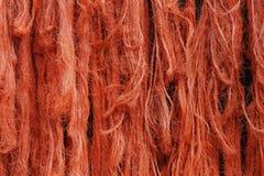 Κινηματογράφηση σε πρώτο πλάνο των πορτοκαλιών σχοινιών στοκ εικόνες