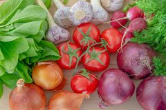 Κινηματογράφηση σε πρώτο πλάνο των φρέσκων λαχανικών στοκ φωτογραφίες