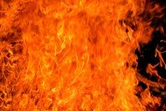 Κινηματογράφηση σε πρώτο πλάνο φλογών πυρκαγιάς. Στοκ Φωτογραφία