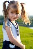 Κινηματογράφηση σε πρώτο πλάνο χαμόγελου μικρών κοριτσιών στοκ φωτογραφία με δικαίωμα ελεύθερης χρήσης