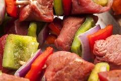Κινηματογράφηση σε πρώτο πλάνο -3 Kebab Στοκ Εικόνα
