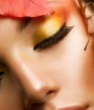Κινηματογράφηση σε πρώτο πλάνο Makeup φθινοπώρου στοκ φωτογραφίες με δικαίωμα ελεύθερης χρήσης