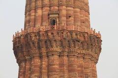 Κινηματογράφηση σε πρώτο πλάνο Qutab Minar Στοκ Φωτογραφία