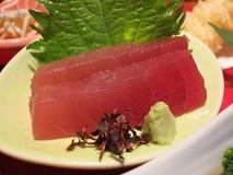Κινηματογράφηση σε πρώτο πλάνο Sashimi τόνου Maguro Στοκ φωτογραφία με δικαίωμα ελεύθερης χρήσης