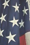 Κινηματογράφηση σε πρώτο πλάνο αμερικανικών σημαιών των αστεριών και των λωρίδων Στοκ εικόνα με δικαίωμα ελεύθερης χρήσης