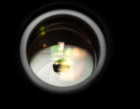Κινηματογράφηση σε πρώτο πλάνο ανοιγμάτων φακών Στοκ Εικόνα