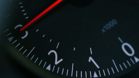 Κινηματογράφηση σε πρώτο πλάνο αυτοκινήτων Тachometer φιλμ μικρού μήκους