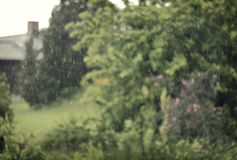 Κινηματογράφηση σε πρώτο πλάνο βροχής Στοκ Εικόνες