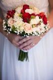 Κινηματογράφηση σε πρώτο πλάνο γαμήλιων ανθοδεσμών Στοκ Εικόνα