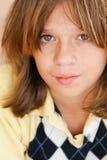 Αγόρι με την ουδέτερη έκφραση Στοκ φωτογραφίες με δικαίωμα ελεύθερης χρήσης