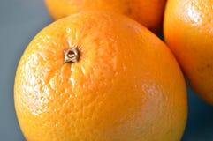Κινηματογράφηση σε πρώτο πλάνο ενός πορτοκαλιού της Βαλέντσιας Στοκ Φωτογραφία