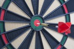 Κινηματογράφηση σε πρώτο πλάνο ενός dartboard bullseye Στοκ Εικόνα