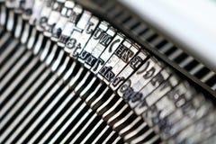 Κινηματογράφηση σε πρώτο πλάνο/λεπτομέρεια από μια εκλεκτής ποιότητας γραφομηχανή Στοκ φωτογραφίες με δικαίωμα ελεύθερης χρήσης