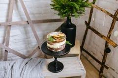 Κινηματογράφηση σε πρώτο πλάνο κέικ μπισκότων στις διακοπές Χριστουγέννων Στοκ Φωτογραφία