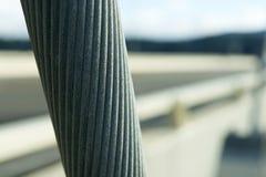 Κινηματογράφηση σε πρώτο πλάνο καλωδίων γεφυρών κόλπων Alsea Στοκ φωτογραφία με δικαίωμα ελεύθερης χρήσης