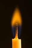Κινηματογράφηση σε πρώτο πλάνο κεριών Στοκ Φωτογραφία