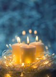 Κινηματογράφηση σε πρώτο πλάνο κεριών Στοκ φωτογραφίες με δικαίωμα ελεύθερης χρήσης
