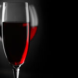 Κινηματογράφηση σε πρώτο πλάνο κόκκινου κρασιού Στοκ εικόνα με δικαίωμα ελεύθερης χρήσης