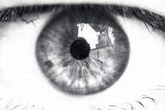 κινηματογράφηση σε πρώτο πλάνο ματιών Στοκ Εικόνα