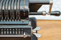 Κινηματογράφηση σε πρώτο πλάνο μηχανισμών μηχανών προσθήκης Στοκ Εικόνα