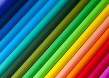 Κινηματογράφηση σε πρώτο πλάνο μολυβιών χρώματος Στοκ εικόνες με δικαίωμα ελεύθερης χρήσης