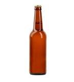 Κινηματογράφηση σε πρώτο πλάνο μπουκαλιών μπύρας που απομονώνεται σε ένα λευκό Στοκ φωτογραφίες με δικαίωμα ελεύθερης χρήσης