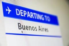 Κινηματογράφηση σε πρώτο πλάνο οθονών υπολογιστή της πτήσης στο Μπουένος Άιρες Στοκ φωτογραφία με δικαίωμα ελεύθερης χρήσης