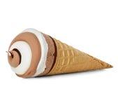 Κινηματογράφηση σε πρώτο πλάνο παγωτού που απομονώνεται Στοκ εικόνα με δικαίωμα ελεύθερης χρήσης