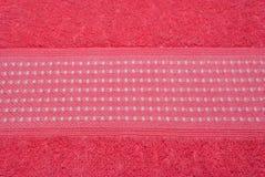 Κινηματογράφηση σε πρώτο πλάνο που οδοντώνουν και υπόβαθρο πετσετών χρώματος ροδάκινων Στοκ φωτογραφίες με δικαίωμα ελεύθερης χρήσης