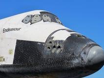 Κινηματογράφηση σε πρώτο πλάνο προσπάθειας διαστημικών λεωφορείων της μύτης και της ατράκτου Στοκ Εικόνες