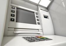 Κινηματογράφηση σε πρώτο πλάνο προσόψεων του ATM Στοκ φωτογραφία με δικαίωμα ελεύθερης χρήσης