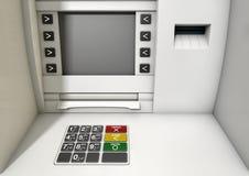 Κινηματογράφηση σε πρώτο πλάνο προσόψεων του ATM Στοκ εικόνα με δικαίωμα ελεύθερης χρήσης