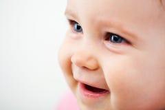 Κινηματογράφηση σε πρώτο πλάνο προσώπου μωρών Στοκ φωτογραφία με δικαίωμα ελεύθερης χρήσης