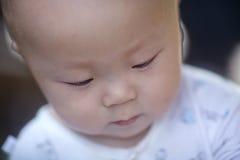 Κινηματογράφηση σε πρώτο πλάνο προσώπου μωρών Στοκ φωτογραφίες με δικαίωμα ελεύθερης χρήσης
