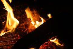 Κινηματογράφηση σε πρώτο πλάνο πυρκαγιάς Στοκ Εικόνα