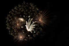 Κινηματογράφηση σε πρώτο πλάνο πυροτεχνημάτων Στοκ Εικόνες