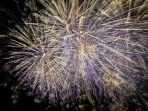 Κινηματογράφηση σε πρώτο πλάνο πυροτεχνημάτων Στοκ Φωτογραφίες