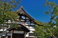 Κινηματογράφηση σε πρώτο πλάνο σε ένα κτήριο στο ναό Kodaiji σύνθετο Στοκ Φωτογραφία