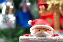 Κινηματογράφηση σε πρώτο πλάνο στην κούκλα santa Στοκ εικόνα με δικαίωμα ελεύθερης χρήσης