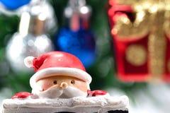 Κινηματογράφηση σε πρώτο πλάνο στην κούκλα santa Στοκ Εικόνες